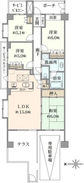 ディー・トリア アイリットスクエアの間取図/1F/5,380万円/4LDK/83.45 m²