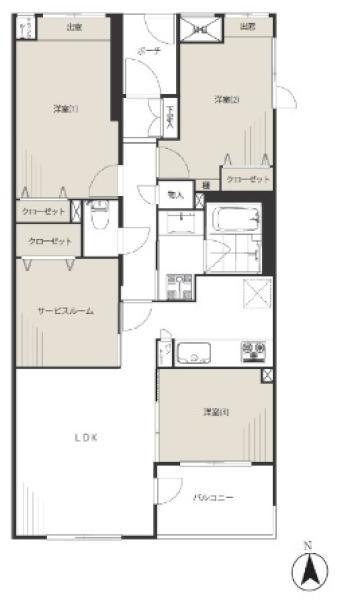 アールヴェール荻窪北の間取図/3F/4,390万円/3SLDK/76.43 m²