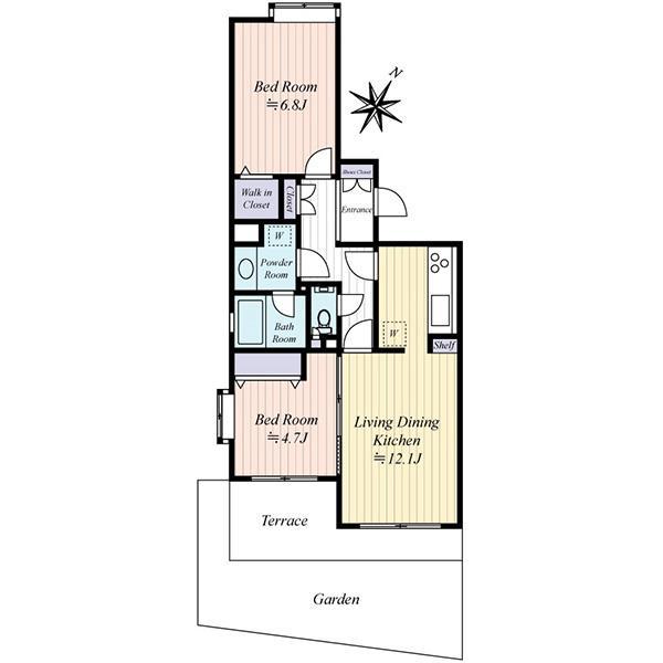 東建ニューハイツ池上の間取図/1F/2,980万円/2LDK/57.12 m²
