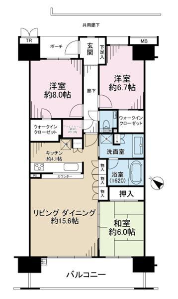 ガーデンアソシエF棟の間取図/9F/5,480万円/3SLDK/95.05 m²