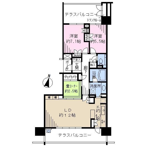 ブエナテラーサの間取図/2F/3,950万円/2LDK/82.12 m²